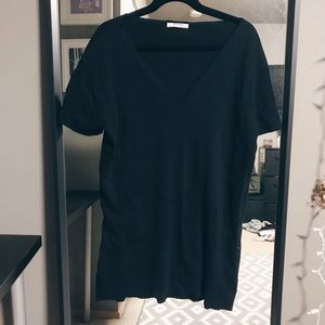 Zara Cut Off V-Neck T-Shirt Dress